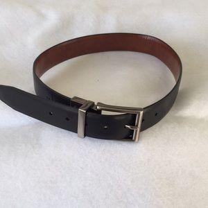 Chaps Belt Black Reversible Faux Leather S 22/24